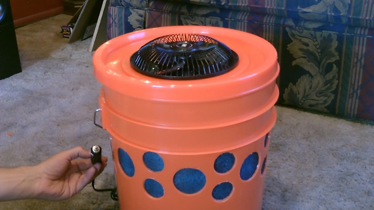 """Best ideas about Swamp Cooler DIY . Save or Pin Homemade Evap Air Cooler The """"5 Gallon Bucket"""" Swamp Now."""