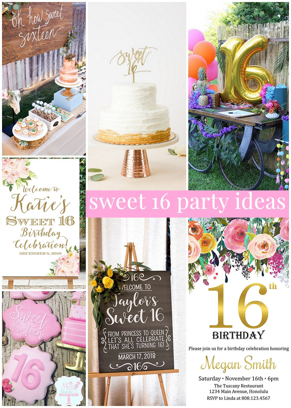 Best ideas about Sweet 16 Birthday Party . Save or Pin Sweet 16 Party Ideas Now.