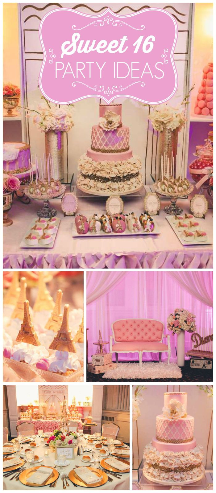 Best ideas about Sweet 16 Birthday Party . Save or Pin 1000 ideas about Paris Sweet 16 on Pinterest Now.