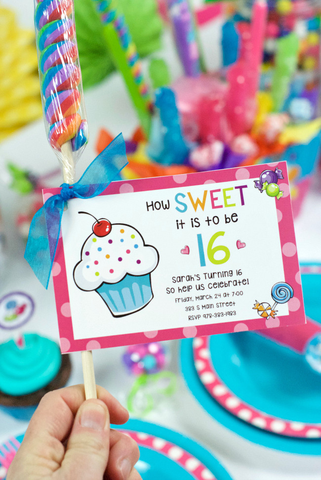 Best ideas about Sweet 16 Birthday Party . Save or Pin Sweet 16 Birthday Party Ideas Throw a Candy Themed Party Now.