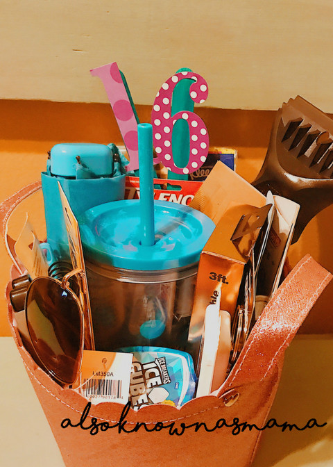 Best ideas about Sweet 16 Gift Ideas For Friend . Save or Pin 16th Birthday Gift Basket Now.