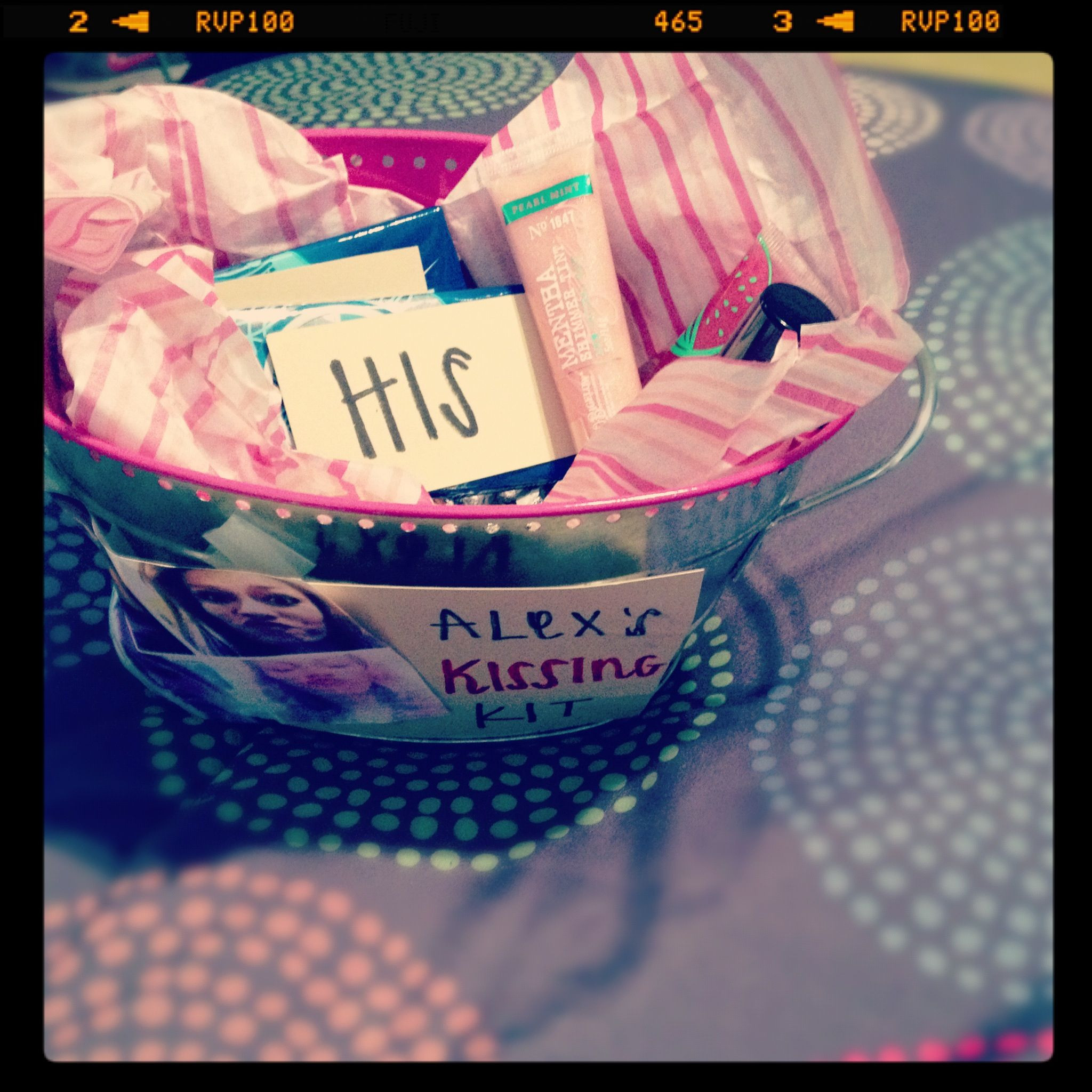 Best ideas about Sweet 16 Gift Ideas For Friend . Save or Pin Sweet 16 kissing kit made by my cute best friend Now.