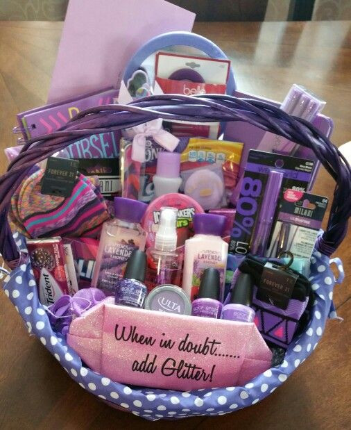 Best ideas about Sweet 16 Gift Ideas For Friend . Save or Pin Sweet 16 all purple basket Gift ideas Now.