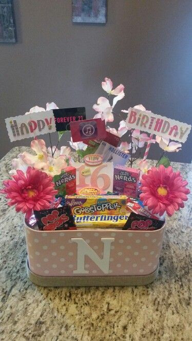 Best ideas about Sweet 16 Gift Ideas For Friend . Save or Pin Sweet 16th birthday t basket Now.