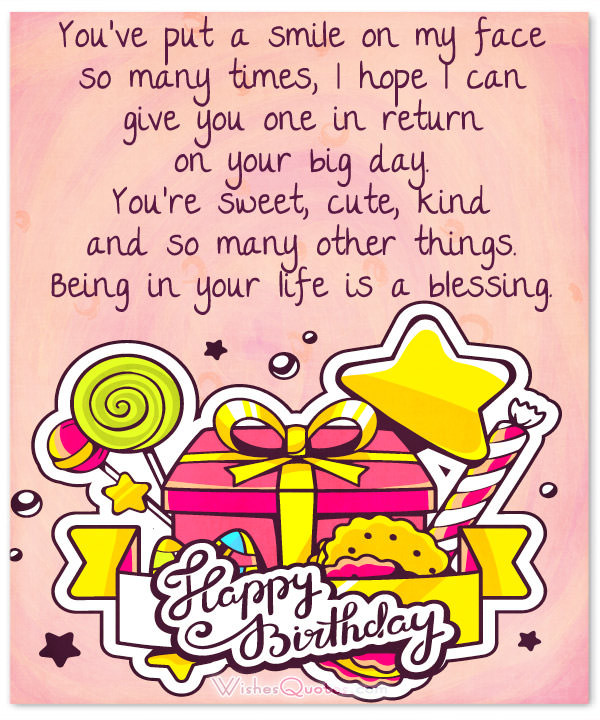 Best ideas about Sweet Birthday Quotes . Save or Pin 100 Sweet Birthday Messages Adorable Birthday Cards Now.