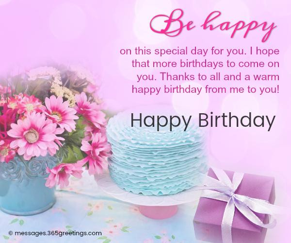Best ideas about Sweet Birthday Wishes . Save or Pin Happy Birthday Wishes and Messages 365greetings Now.