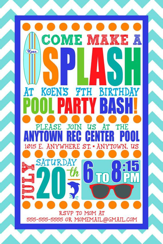 Best ideas about Swimming Birthday Party Invitations . Save or Pin Best 25 Swim party invitations ideas on Pinterest Now.