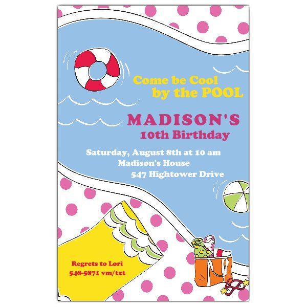 Best ideas about Swimming Birthday Party Invitations . Save or Pin Swimming Fun Girl Birthday Party Invitations Now.