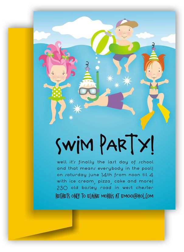 Best ideas about Swimming Birthday Party Invitations . Save or Pin 44 best images about Pool Party Ideas and Graphics on Now.