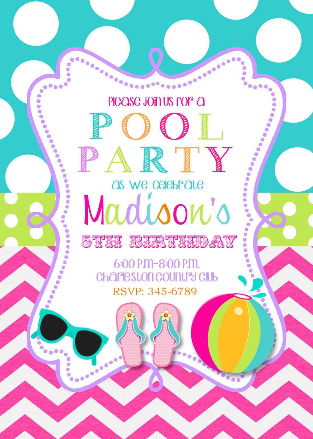 Best ideas about Swimming Birthday Party Invitations . Save or Pin Pool Party Birthday Party invitations printable or digital Now.