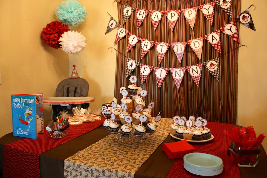 Best ideas about Table Decoration Ideas For Birthday Party . Save or Pin Sock Monkey Themed First Birthday Party Ideas Now.