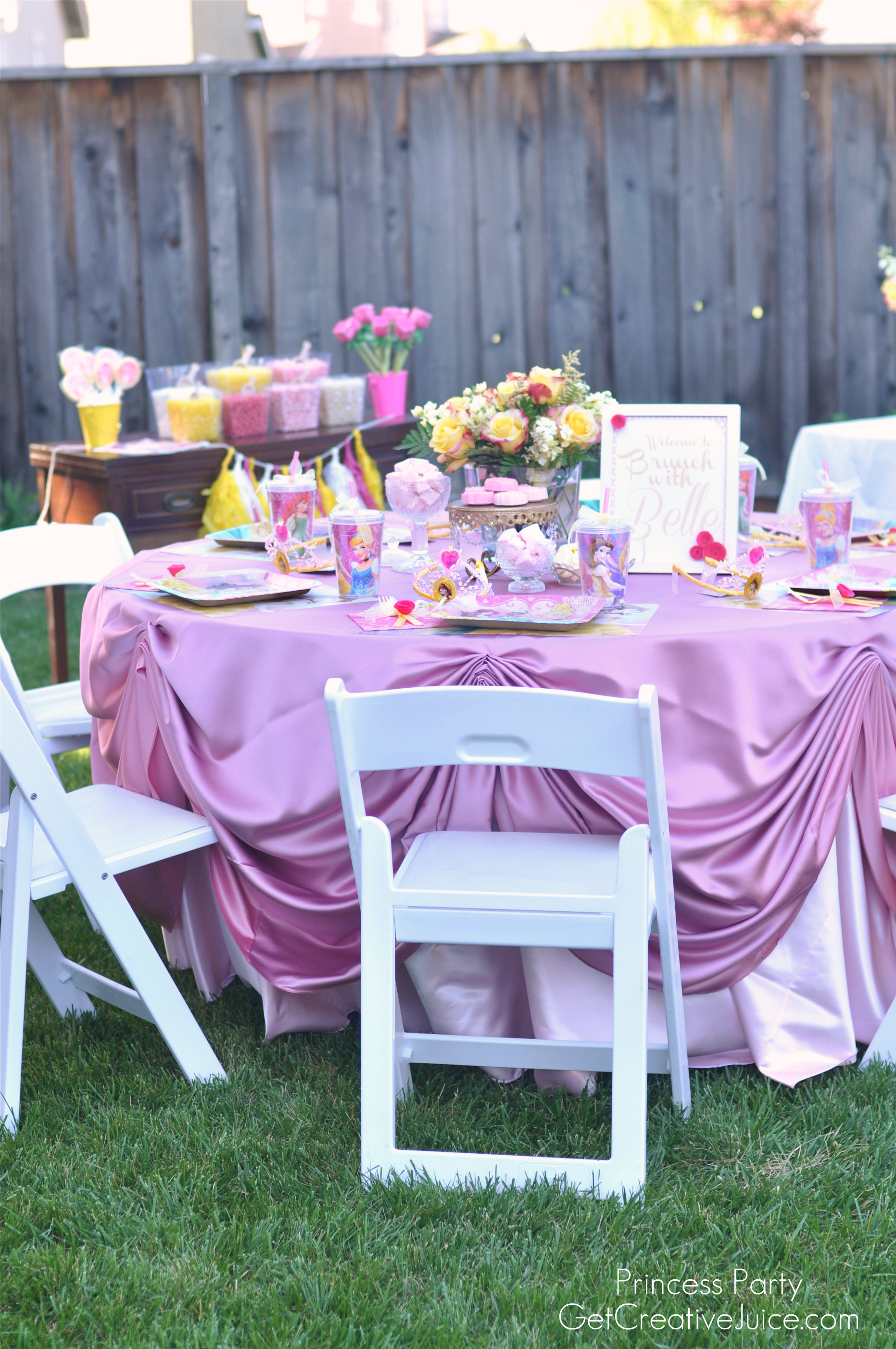 Best ideas about Table Decoration Ideas For Birthday Party . Save or Pin Disney Princess Party with Belle Part e Creative Juice Now.