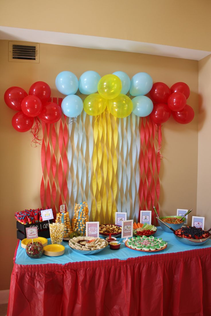 Best ideas about Table Decoration Ideas For Birthday Party . Save or Pin Here was our food table decor from Matthew s 1st Birthday Now.