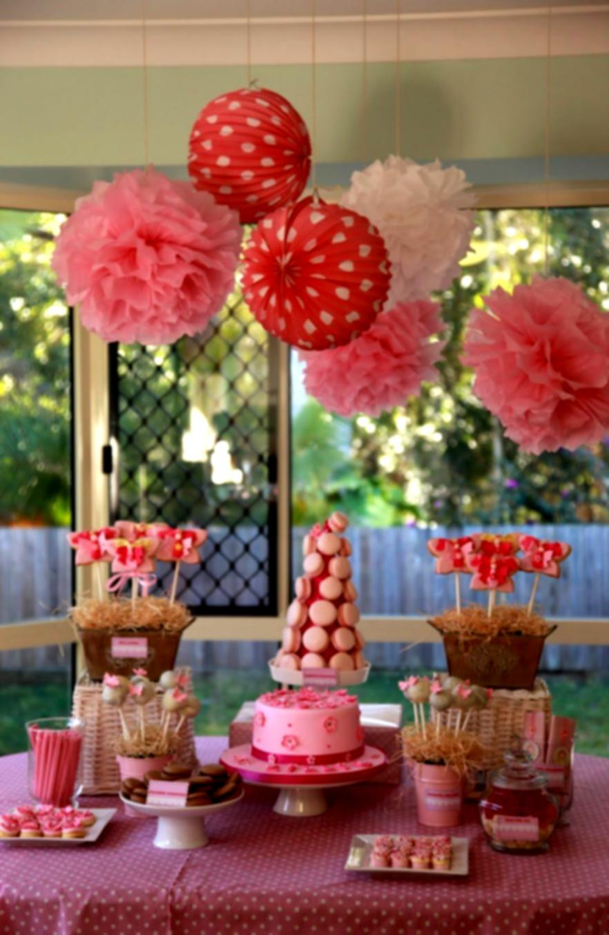 Best ideas about Table Decoration Ideas For Birthday Party . Save or Pin 1st Birthday Decoration Ideas At Home For Party Favor Now.