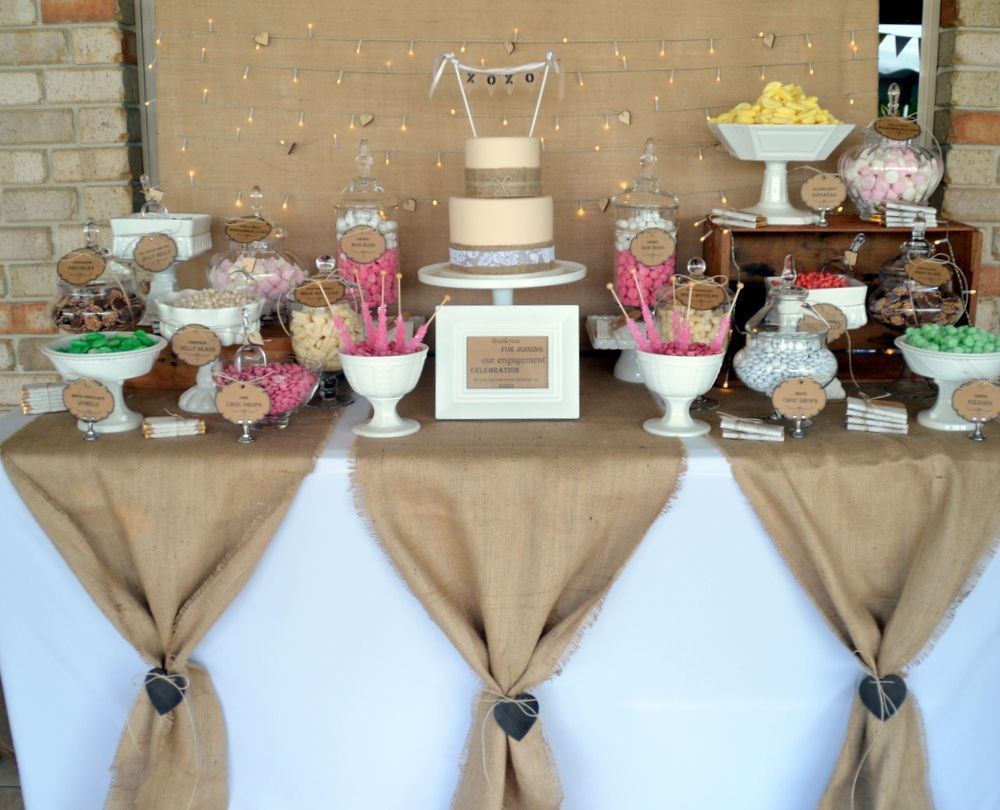 Best ideas about Table Decoration Ideas For Birthday Party . Save or Pin Burlap Party Decorations Ideas 87 Party 2017 Now.
