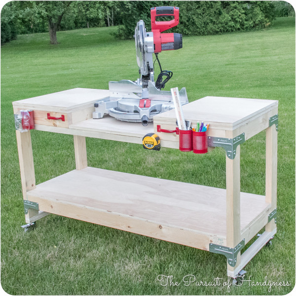 Best ideas about Table Saw Stand DIY . Save or Pin 6 DIY Space Saving Miter Saw Stand Plans for a Small Workshop Now.