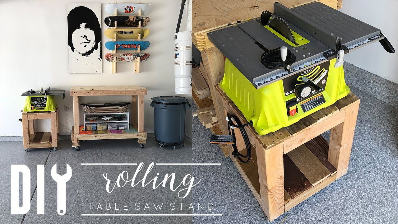 Best ideas about Table Saw Stand DIY . Save or Pin DIY Rolling Side Table Now.