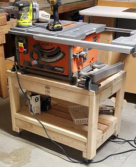 """Best ideas about Table Saw Stand DIY . Save or Pin """"Easy steps to follow Made adjustments being that I m Now."""