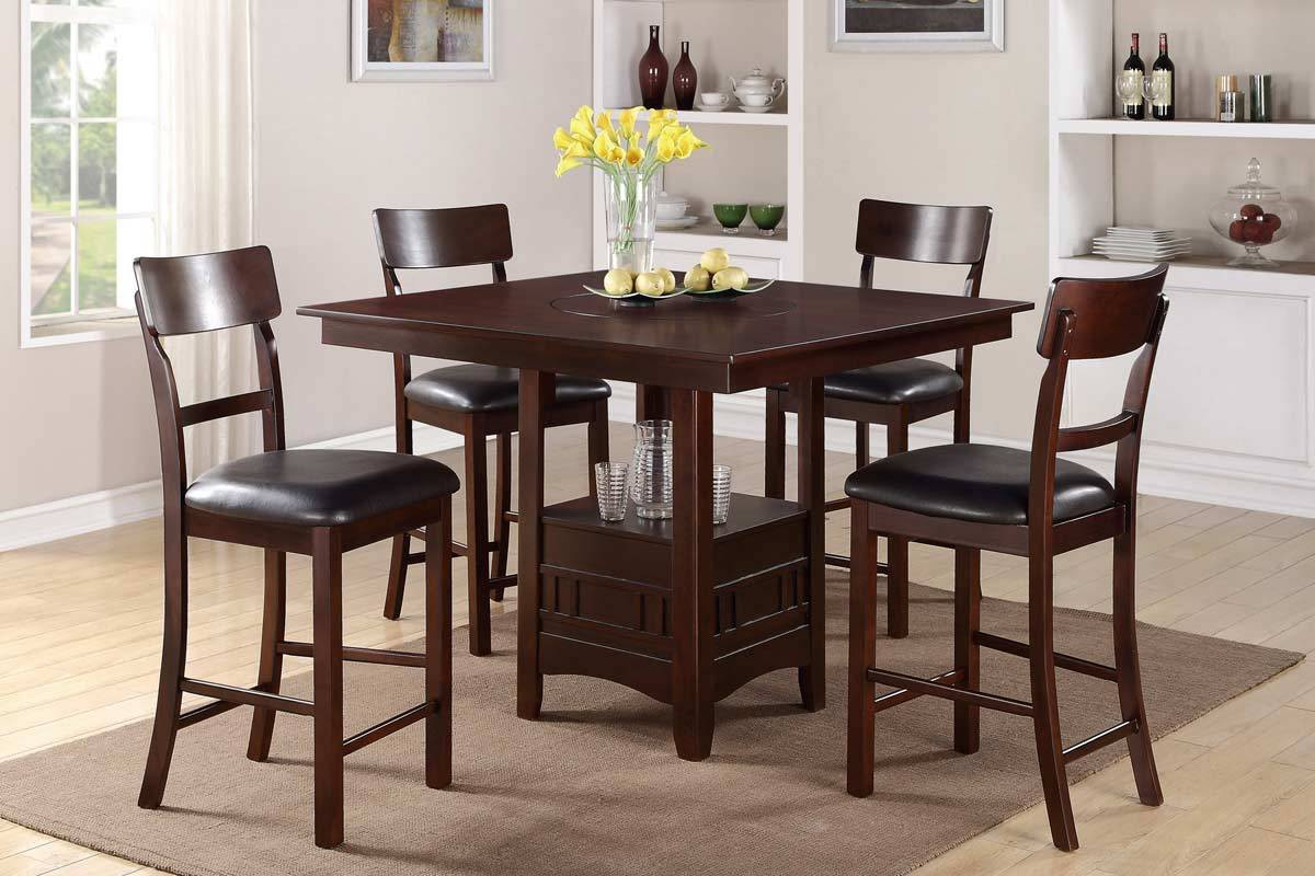 Best ideas about Tall Dining Table . Save or Pin 54 Bar Height Dining Table Set Counter Height Dinette Now.