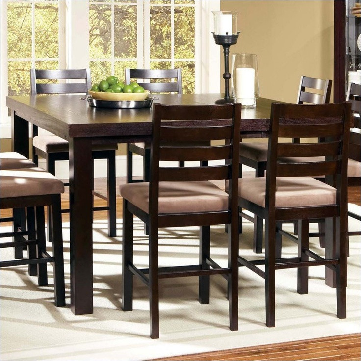 Best ideas about Tall Dining Table . Save or Pin Steve Silver Boulevard 5 Piece Counter Height Dining Table Now.