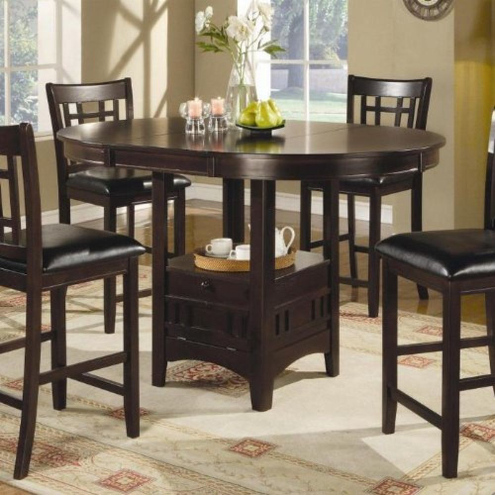 Best ideas about Tall Dining Table . Save or Pin Coaster Counter Height Dining Table Extension Leaf Dark Now.