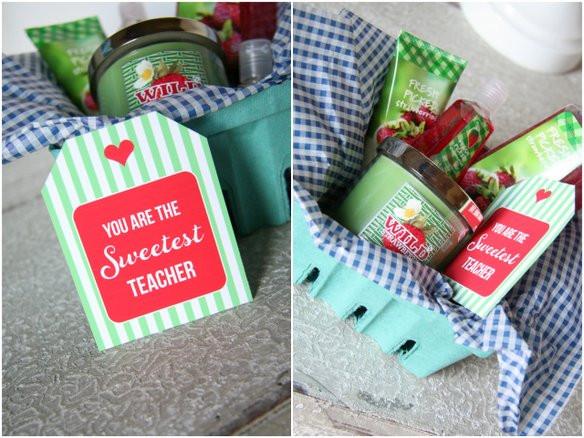 Best ideas about Teacher Appreciation Gift Basket Ideas . Save or Pin Sweet Strawberry Baskets Teacher Appreciation Now.