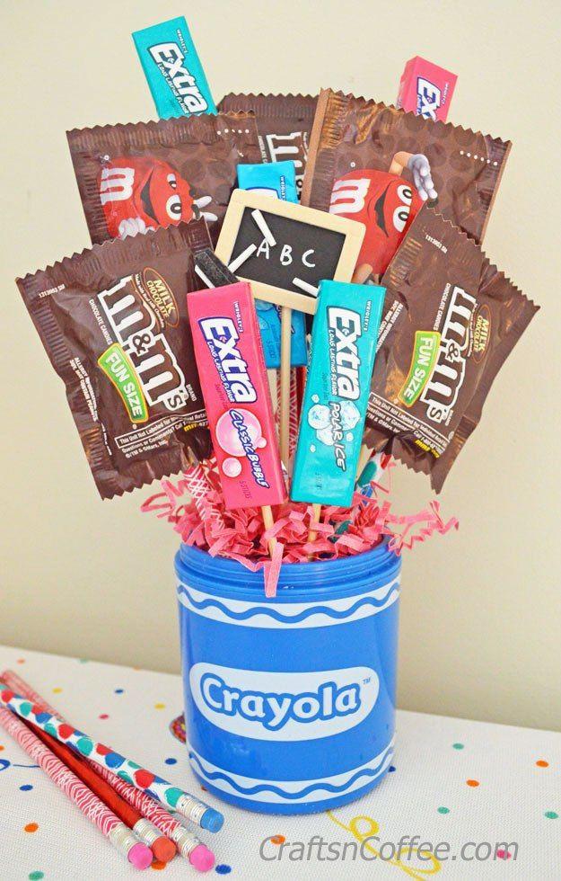 Best ideas about Teacher Appreciation Gift Basket Ideas . Save or Pin Teacher Appreciation Week Gift Idea DIY a $5 Candy Now.
