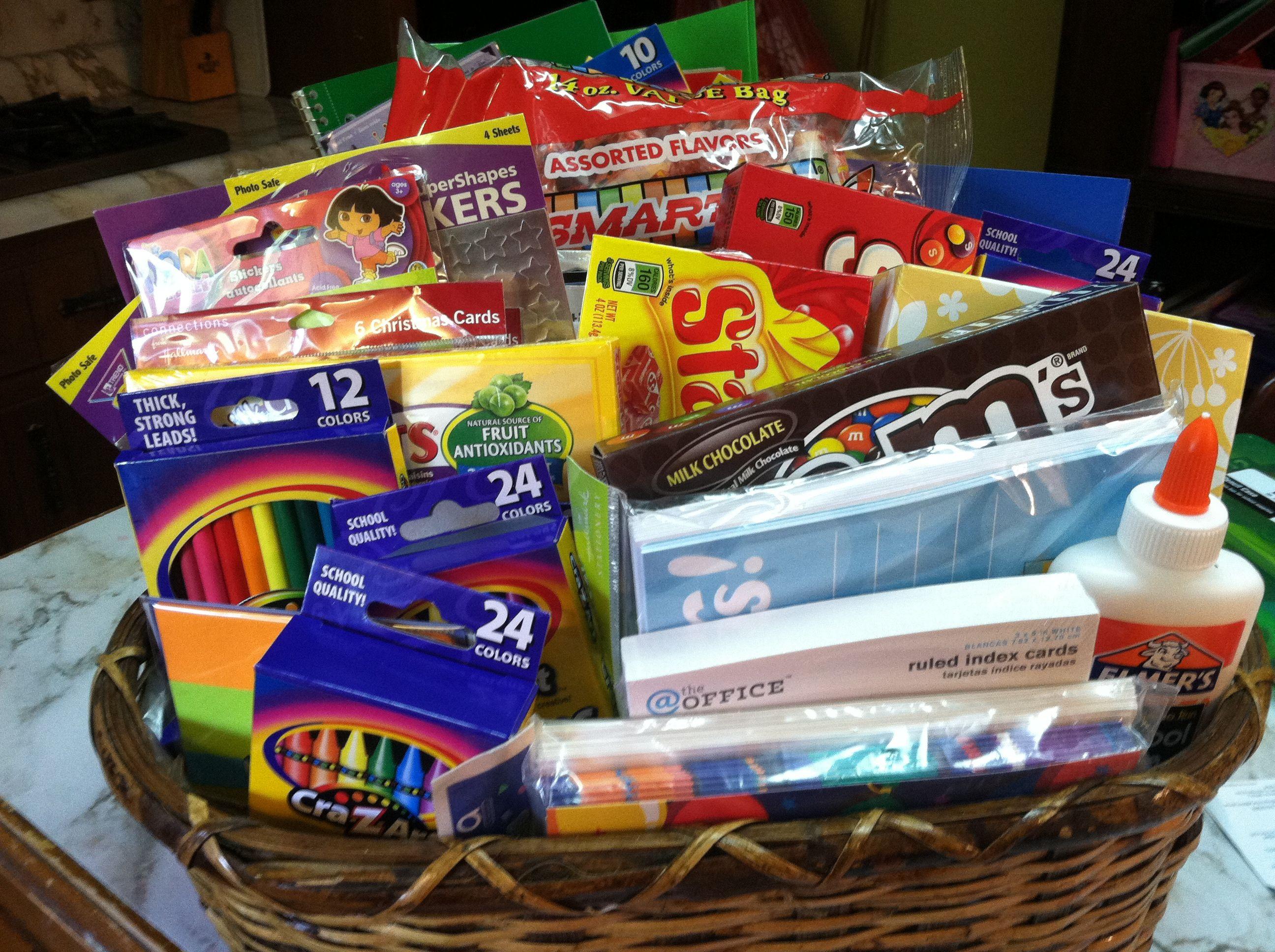 Best ideas about Teacher Appreciation Gift Basket Ideas . Save or Pin Teacher Gift Basket idea Gift ideas Now.