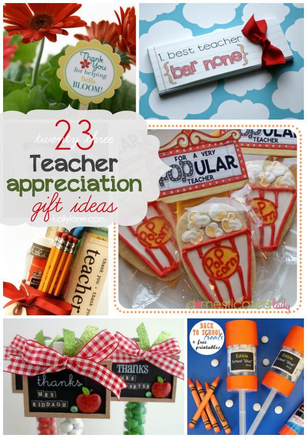 Best ideas about Teacher Appreciation Gift Ideas . Save or Pin 23 Teacher Appreciation t ideas Now.