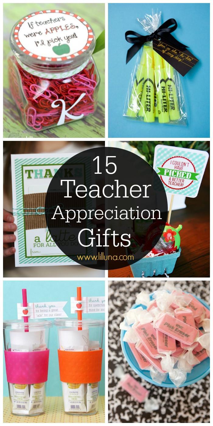 Best ideas about Teacher Appreciation Gift Ideas . Save or Pin 20 Teacher Appreciation Gifts Lil Luna Now.