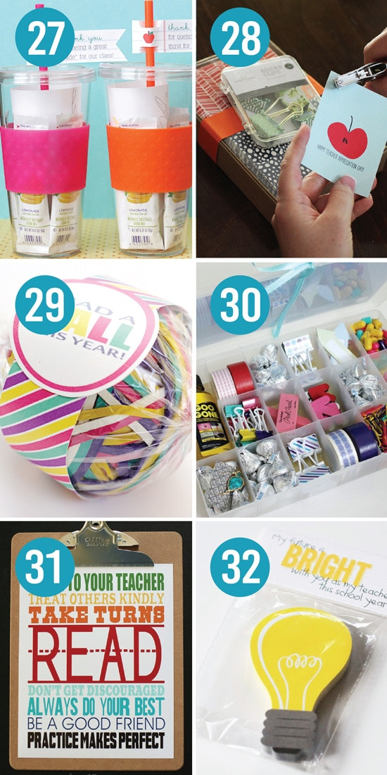 Best ideas about Teacher Appreciation Gift Ideas . Save or Pin 101 Quick and Easy Teacher Appreciation Ideas Now.