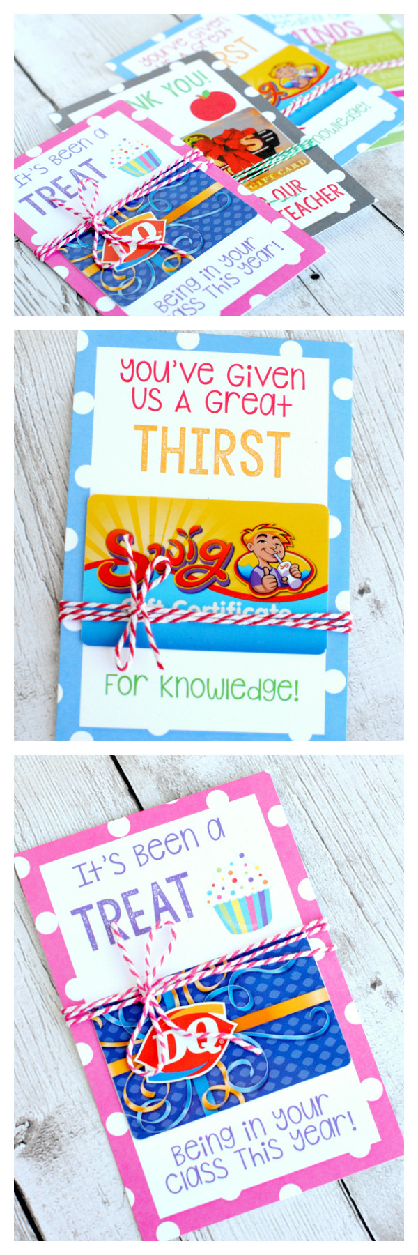 Best ideas about Teacher Gift Card Ideas . Save or Pin Teacher Appreciation Gifts Printable Gift Card Holders Now.