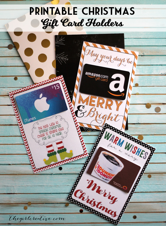 Best ideas about Teacher Gift Card Ideas . Save or Pin Printable Christmas Gift Card Holders The Girl Creative Now.