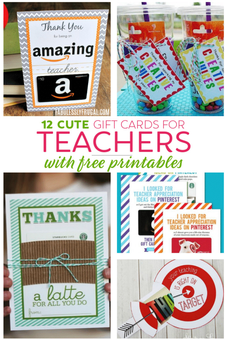 Best ideas about Teacher Gift Card Ideas . Save or Pin Teacher Gift Card Ideas & Gift Card Holder Printables Now.