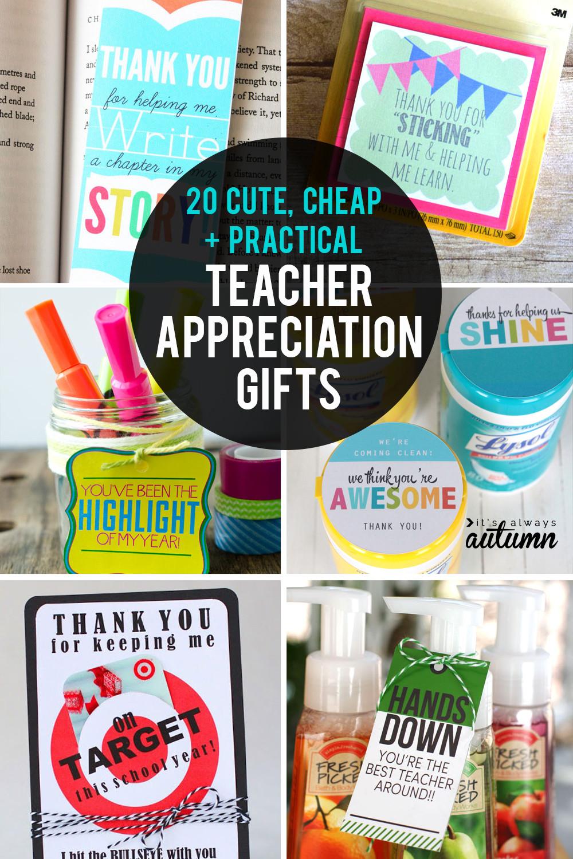 Best ideas about Teachers Appreciation Gift Ideas . Save or Pin 20 cheap easy cute teacher appreciation ts It s Now.