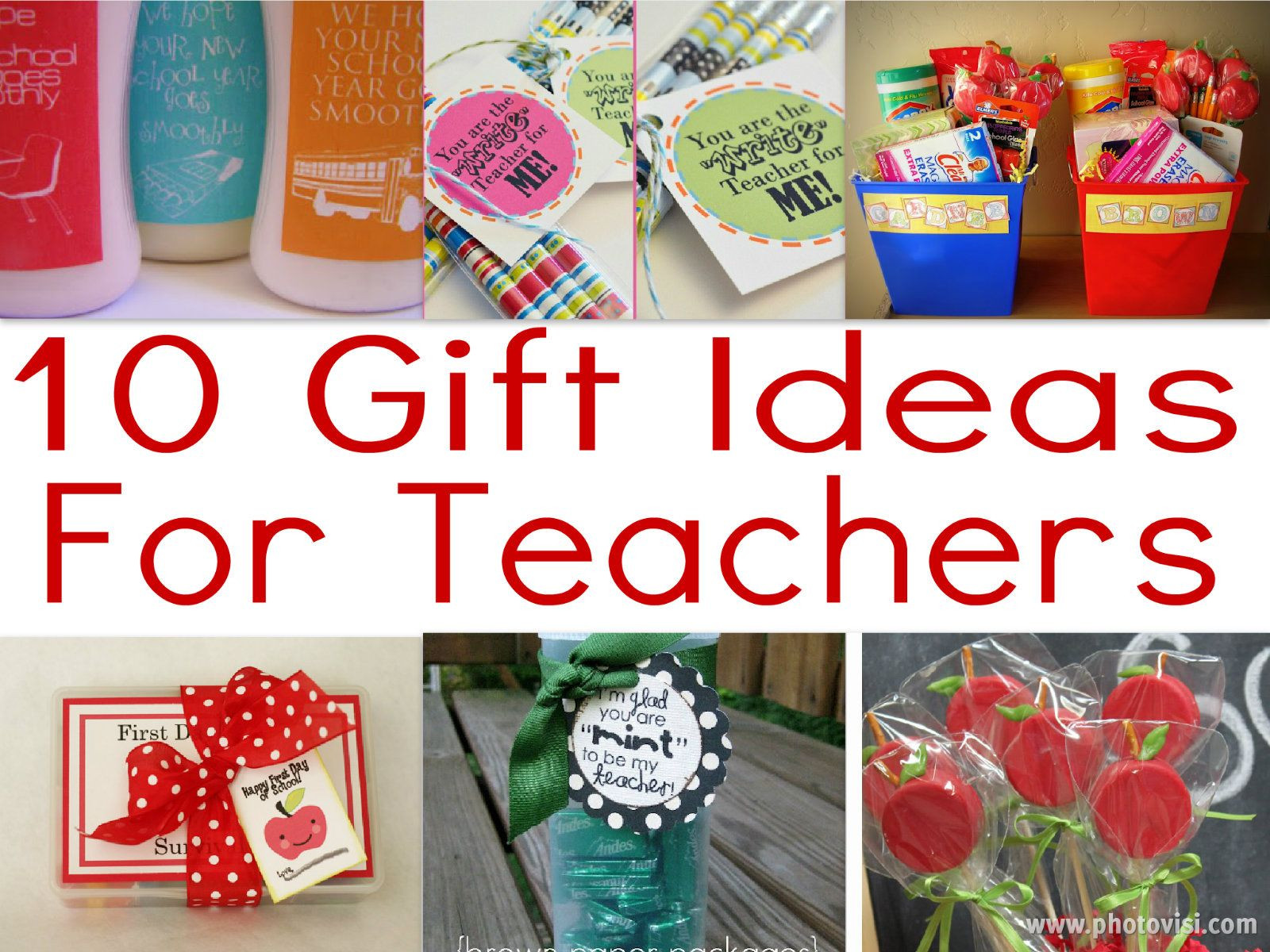 Best ideas about Teachers Gift Ideas . Save or Pin 10 Teacher Gifts For The First Day School Now.