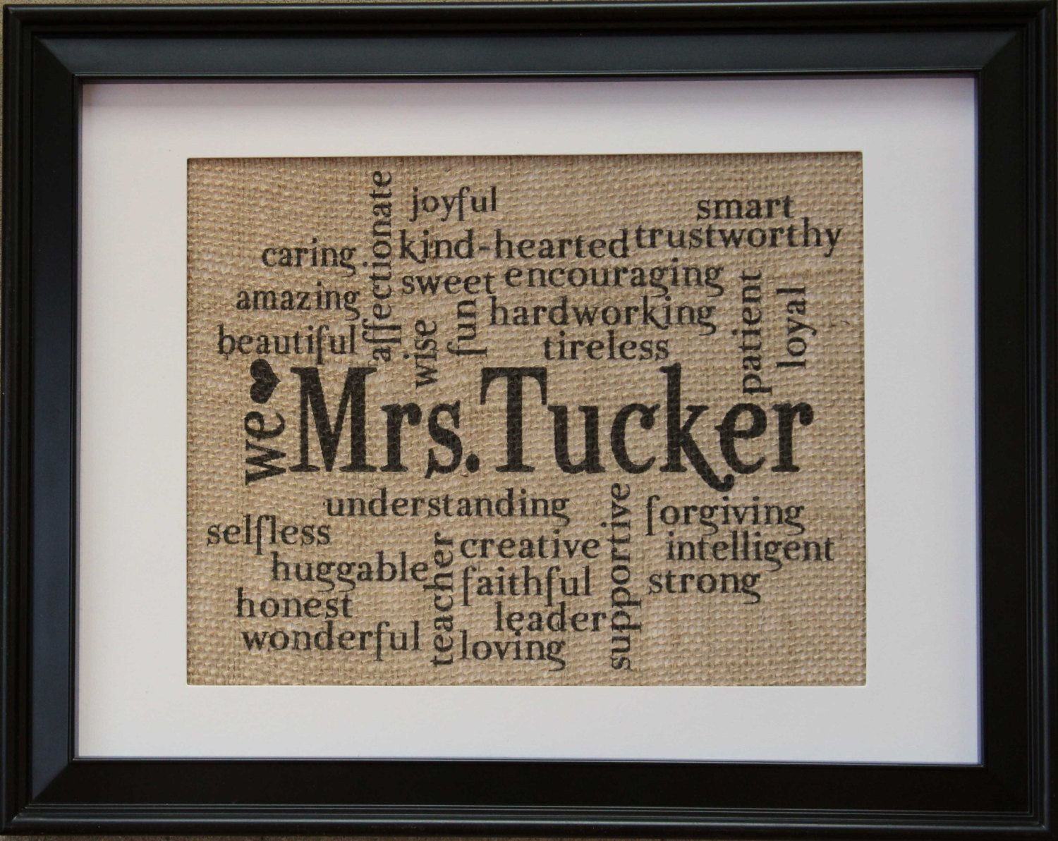 Best ideas about Teachers Retirement Gift Ideas . Save or Pin Teacher Gift Teachers Name on Burlap Burlap by Now.
