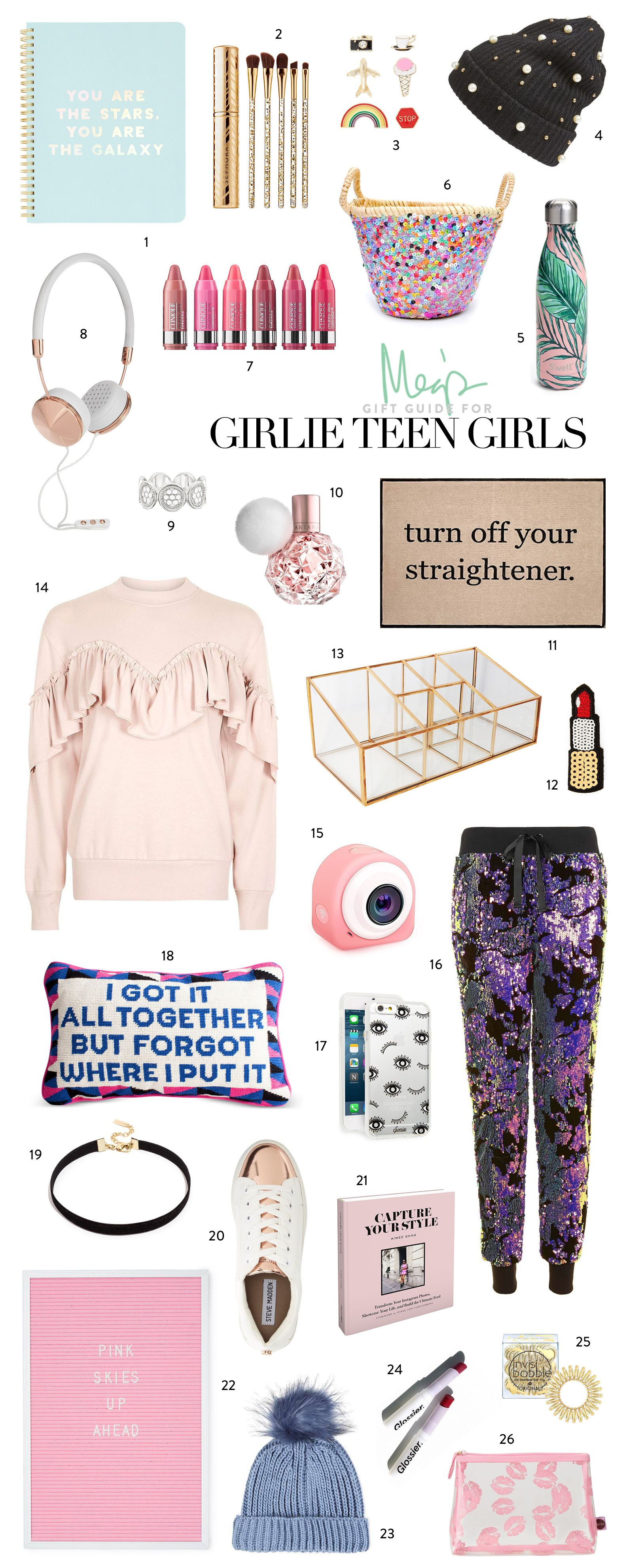 Best ideas about Teen Birthday Gift Ideas . Save or Pin Holiday Gift Guide Girlie Teen Girls Now.