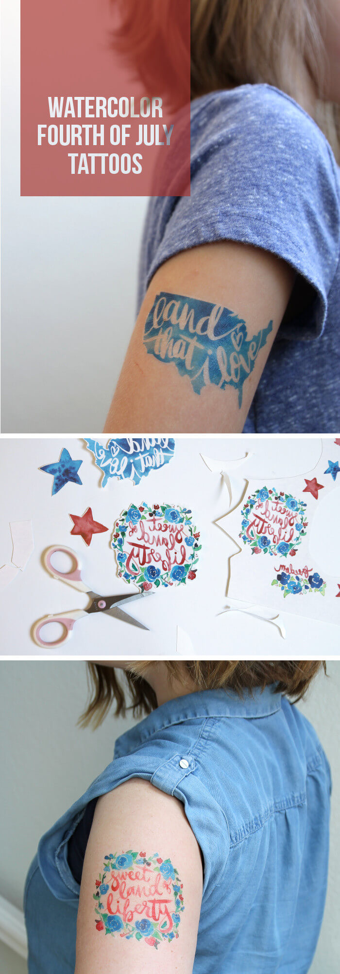 Best ideas about Temporary Tattoos DIY . Save or Pin Make Watercolor Fourth of July Temporary Tattoos Persia Lou Now.