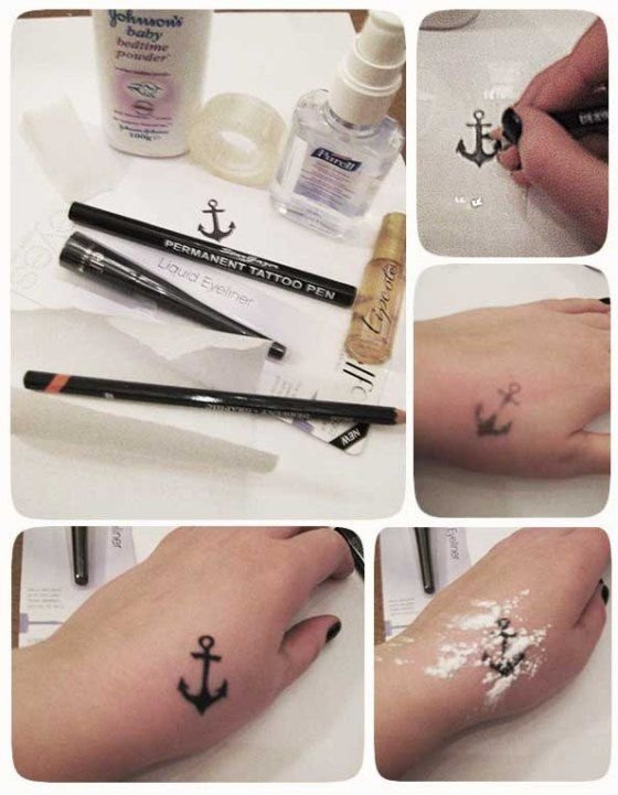 Best ideas about Temporary Tattoos DIY . Save or Pin Love Tattoos but Don t Want to Get Inked Try These Now.