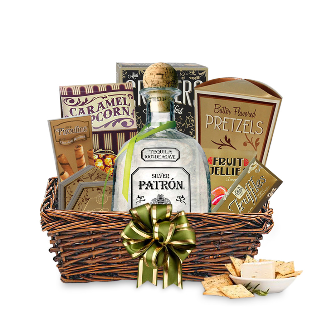 Best ideas about Tequila Gift Ideas . Save or Pin Send Patron Silver Tequila Gift Basket line Now.