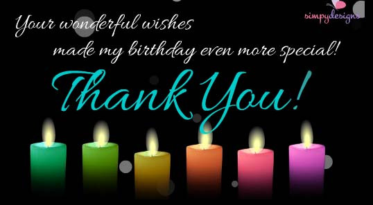 Best ideas about Thank U For Birthday Wishes . Save or Pin Thank You For Your Birthday Wishes Free Birthday Thank Now.