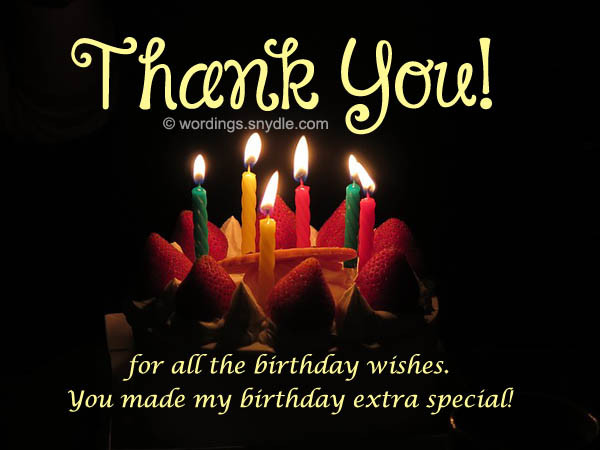 Best ideas about Thank U For Birthday Wishes . Save or Pin How To Say Thank You For Birthday Wishes Wordings and Now.