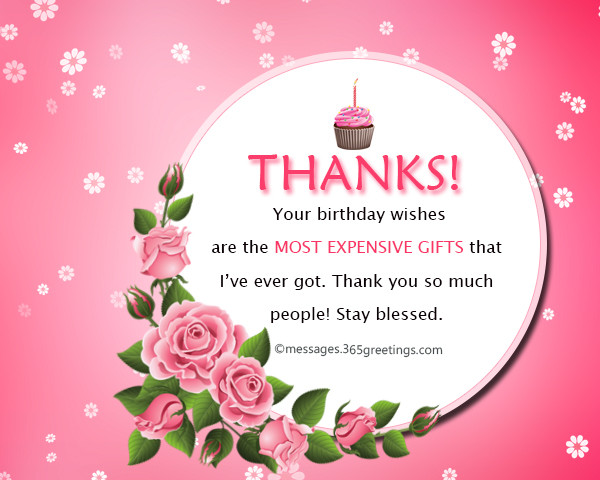 Best ideas about Thank You For Birthday Wishes On Facebook Status . Save or Pin Thank You Message For Birthday Wishes Now.