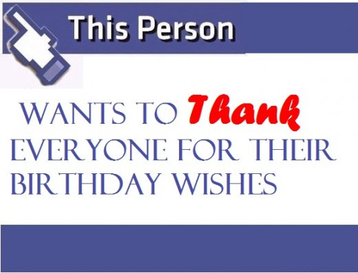 Best ideas about Thank You For Birthday Wishes On Facebook Status . Save or Pin Thank You Notes for Birthday Wishes Now.