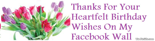 Best ideas about Thank You For Birthday Wishes On Facebook Status . Save or Pin Thank You Graphics Now.