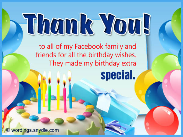 Best ideas about Thank You For The Birthday Wishes Facebook . Save or Pin Birthday wishes Quotes for birthday wishes and Quotes for Now.