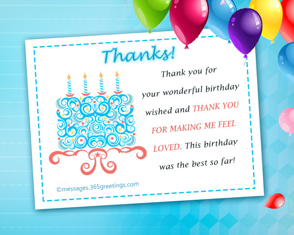 Best ideas about Thank You For The Birthday Wishes Facebook . Save or Pin Thank You Message For Birthday Wishes Now.