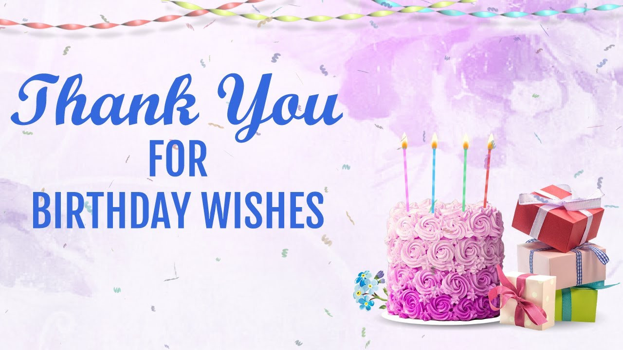 Best ideas about Thank You Messages For Birthday Wishes . Save or Pin Thank you for Birthday Wishes status message Now.