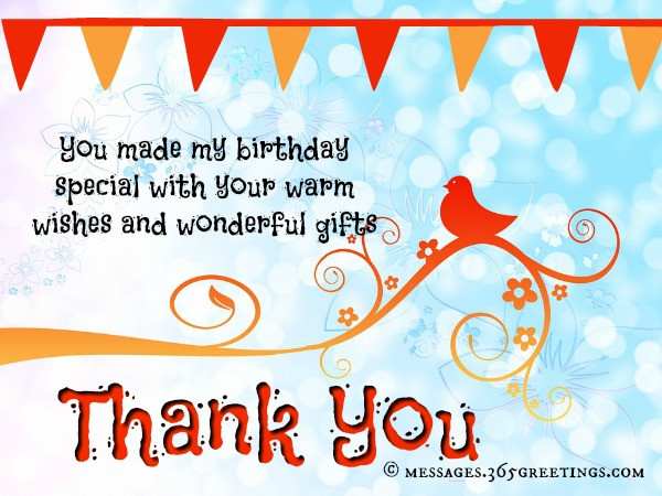 Best ideas about Thank You Note For Birthday Wishes . Save or Pin Birthday Thank You Messages Thank You for Birthday Wishes Now.